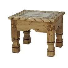 End Table W/ Rope Stone and Star