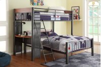 Twin/Full Loft Bed Upper Twin Bed: 81 x 43 x 65H Lower Full Bed: 81 x 58 x 32.5H Product Image