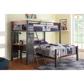 Twin/Full Loft Bed Upper Twin Bed: 81 x 43 x 65H Lower Full Bed: 81 x 58 x 32.5H