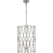 Visual Comfort NW5111VS Niermann Weeks Brittany 3 Light 18 inch Venetian Silver Foyer Lantern Ceiling Light, Niermann Weeks, Medium