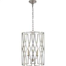 Visual Comfort NW5111VS Niermann Weeks Brittany 3 Light 18 inch Venetian Silver Foyer Lantern Ceiling Light, Niermann Weeks, Medium