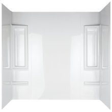 High Gloss White Bathtub Wall Set - 5 Piece
