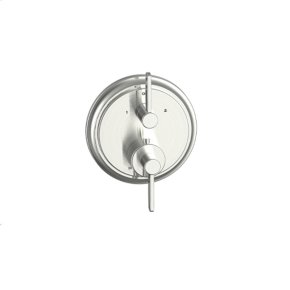 Satin Nickel Wallace (Series 15) Dual Control Thermostatic with Diverter and Volume Control Valve Trim