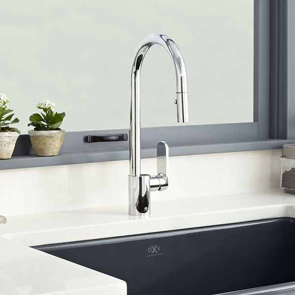 Hidden · Additional Isle Pull Down Kitchen Faucet   Polished Chrome