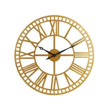 Brass Metal Roman Numeral Wall Clock