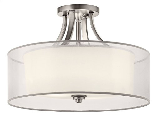 Lacey 4 Light Semi Flush Antique Pewter
