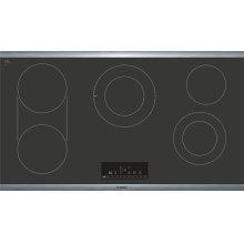 """800 Series 36"""" Touch Control Electric Cooktop, NET8668SUC, Black with Stainless Steel Frame"""