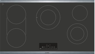 """800 Series 36"""" Electric Cooktop 800 Series - Black with Stainless Steel Frame NET8668SUC"""