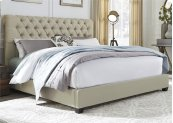 Queen Chesterfield Sleigh Bed