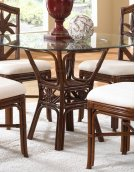 Havana Palm Indoor Rattan & Wicker Round Dining Table Product Image