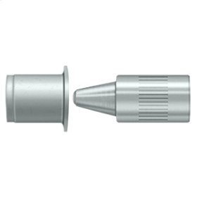 Hinge Pin Stop, Door Mounted - Brushed Chrome