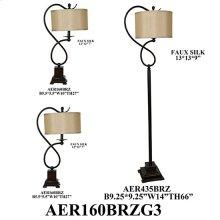 STEEL TABLE/ FLOOR LAMP