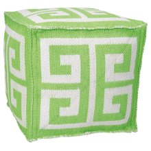 "Outdoor Pillow As555 Apple Green 16"" X 16"" X 16"" Pouf"