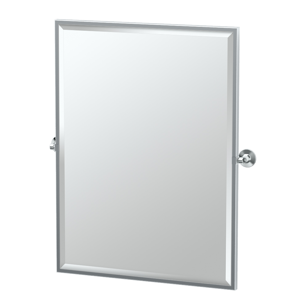 Max Framed Rectangle Mirror in Chrome