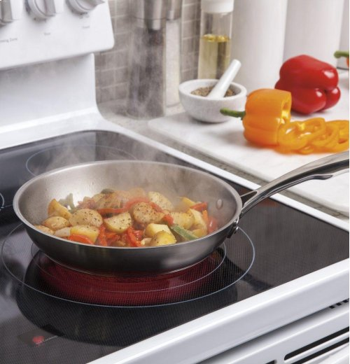 """RED HOT BUY! BE HAPPY! GE® 30"""" Free-Standing Electric Convection Range"""