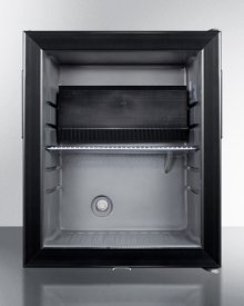 Silent Absorption Minibar for Hotel Use, With Glass Door, Gray Cabinet, and Lock