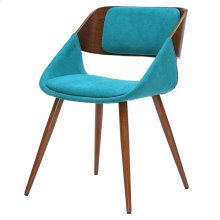 Cyprus KD Fabric Chair, Santorini Teal/Walnut