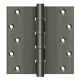 """6"""" X 6"""" Square Hinges, Ball Bearings - Antique Nickel"""