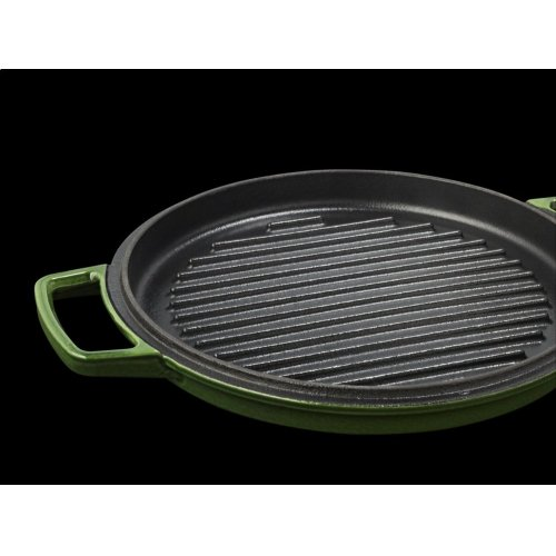 Professional Cast Iron 4-Quart Casserole - Ivy Green