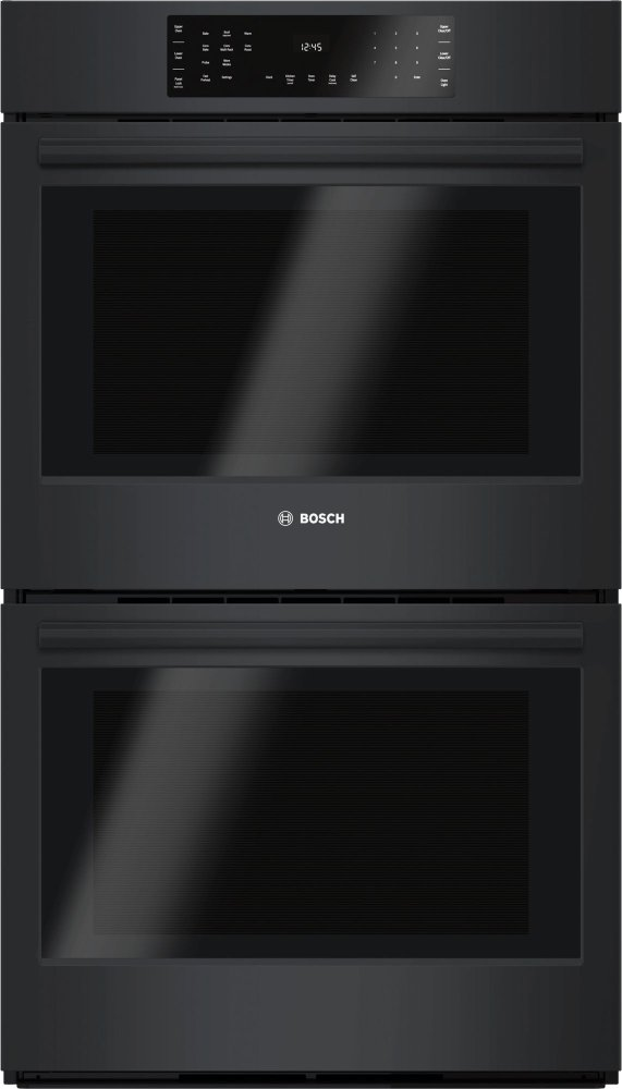 """800 Series, 30"""", Double Wall Oven, BL, EU conv./Thermal, Touch Control  BLACK"""