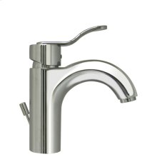 Wavehaus single-hole, single-lever lavatory faucet with pop-up waste.