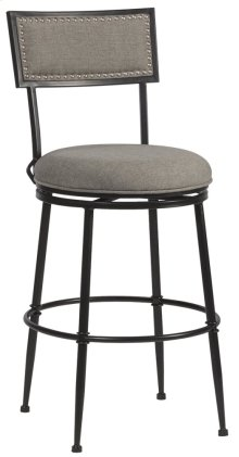 Thielmann Commercial Swivel Bar Stool - Granite/dark Charcoal