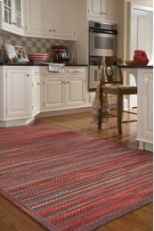 Songbird Cardinal Red Braided Rugs