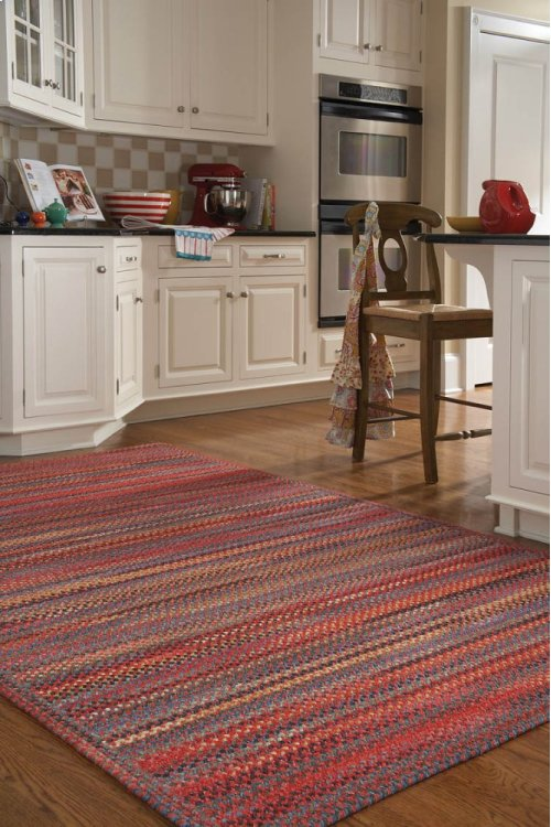 Songbird Cardinal Red Braided Rugs (Custom)