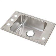 "Elkay Lustertone Classic Stainless Steel 25"" x 17"" x 7-5/8"", Single Bowl Drop-in Classroom Sink"