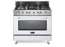 "36"" Gas Single Oven Range White 2"" B/G"