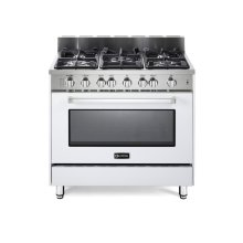 "White 36"" Gas Range with Single Oven"