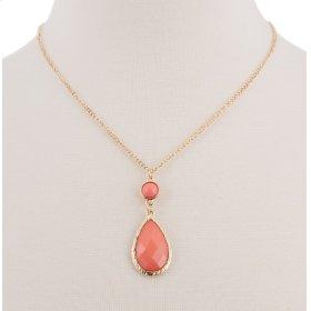 BTQ Orange Drop Stone Necklace