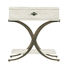 Coastal Living Resort Windward Dune End Table in Nautical White