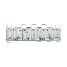 Crosby 4-Light Vanity Sconce in Polished Chrome with Clear Crystal