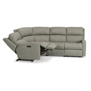 FLEXSTEELCatalina Fabric Power Reclining Sectional with Power Headrests