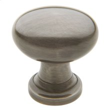 Antique Nickel Oval Knob