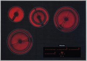 KM 5840 240V Electric cooktop with direct selection plus including timer for maximum user convenience.