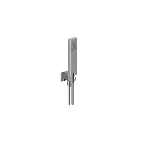 Square Handshower w/Wall Bracket and Integrated Wall Supply Elbow