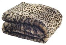 FAUX BLACK LEOPARD THROW - Leopard - Leopard