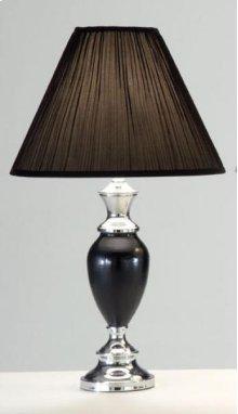 Black / Chrome Vase Lamp