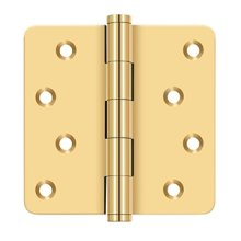 "4""x 4""x 1/4"" Radius Hinges / Zig-Zag - PVD Polished Brass"