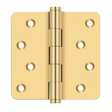 "4""x 4""x 1/4"" Radius Hinges / Zig-Zag - PVD Polished Brass"