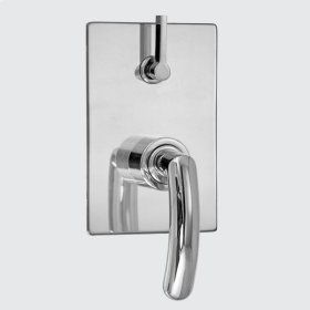E-Mini Thermostatic - Integrated Rectangle Plate - Trim only with Prana handle