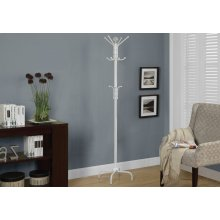 "COAT RACK - 70""H / WHITE METAL"