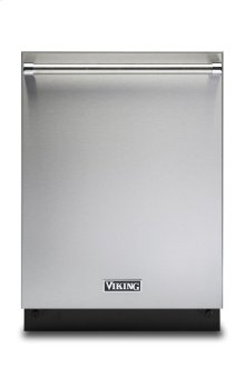 """24"""" Dishwasher w/Installed Professional Stainless Steel Panel"""
