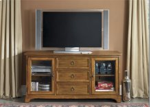 TV Console - 64 Inch - Oak