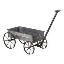 Metal Cart Planter with Handle