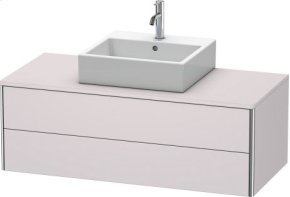 Vanity Unit For Console Wall-mounted, White Lilac Satin Matt Lacquer