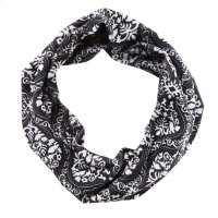 Black & White Damask Stretch Headband. Product Image