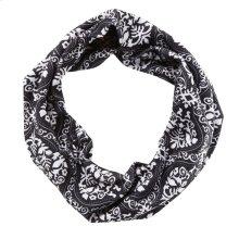 Black & White Damask Stretch Headband.